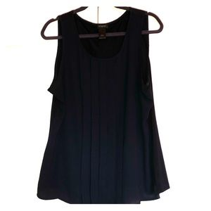 Navy blue Ann Taylor Cami with Flowy detailing